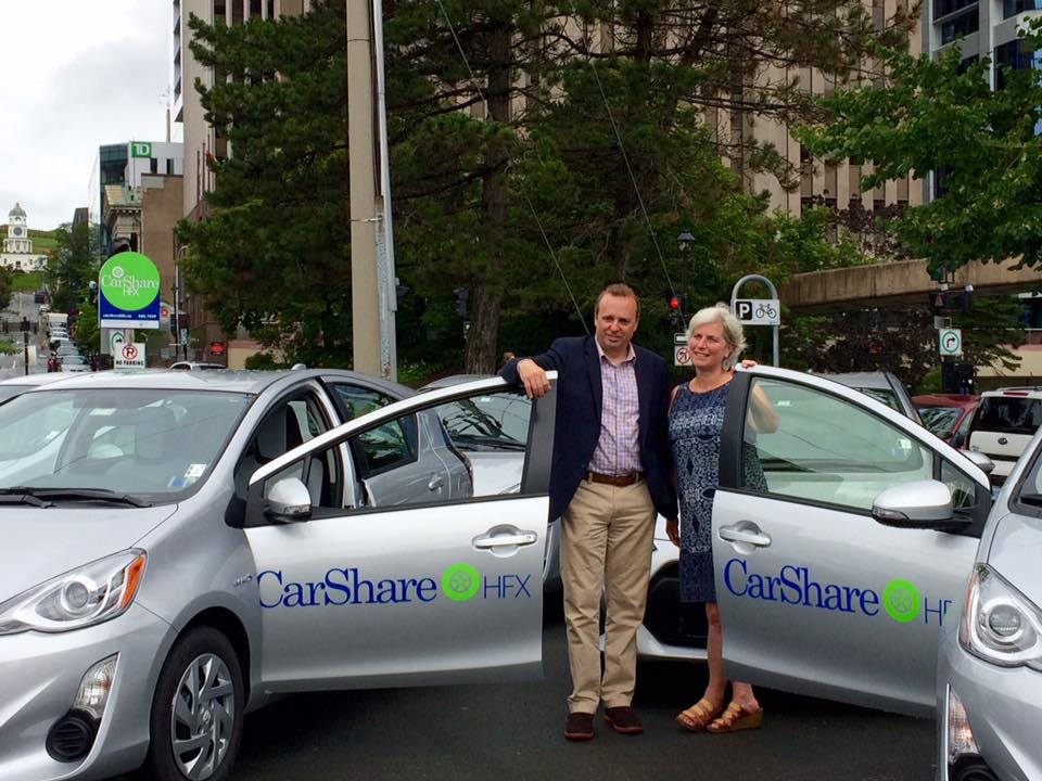 Pam Cooley, President CarShareHFX and Colin McLean, President, Waterfront Development